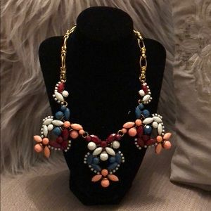 Jewelry - Bold, multi colored statement necklace.